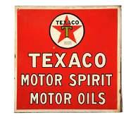 Texaco Motor Spirit Motor Oil with Star Logo Sign.