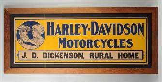 Teen's Harley-Davidson Motorcycle Sign.