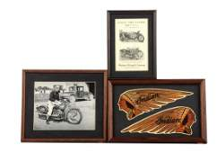 Lot of 3: Indian Motorcycle Items.