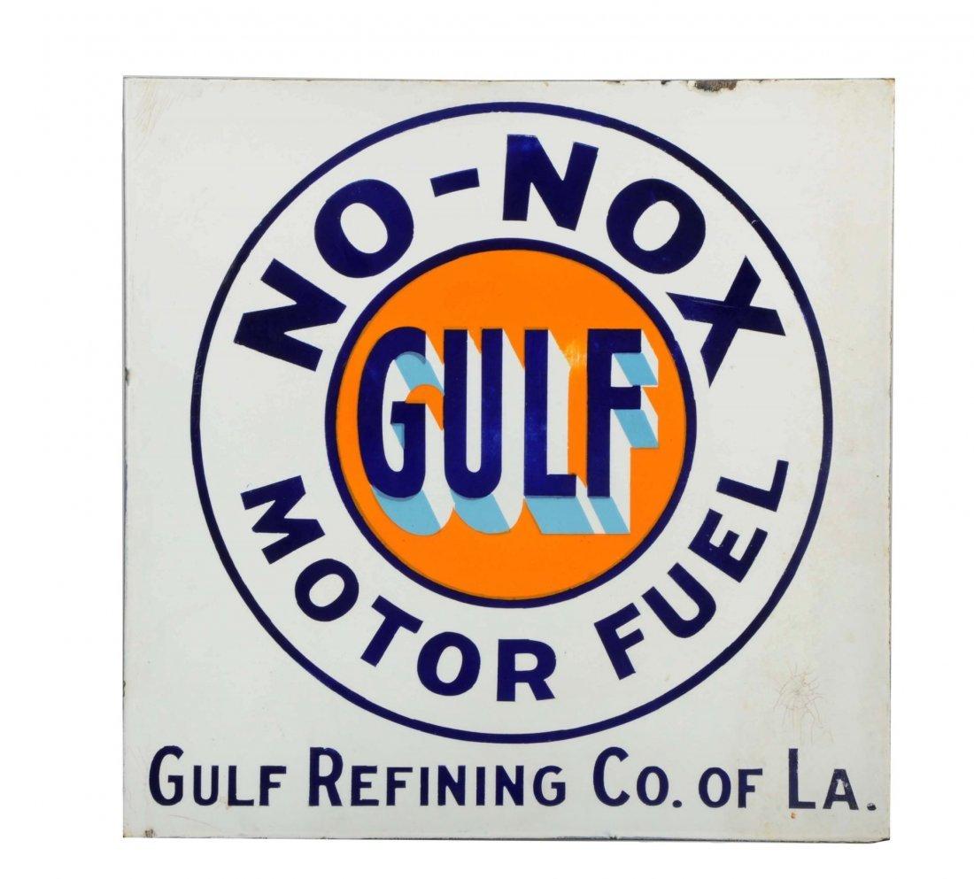 Gulf No-Nox Motor Fuel Gulf Refining of LA Sign.