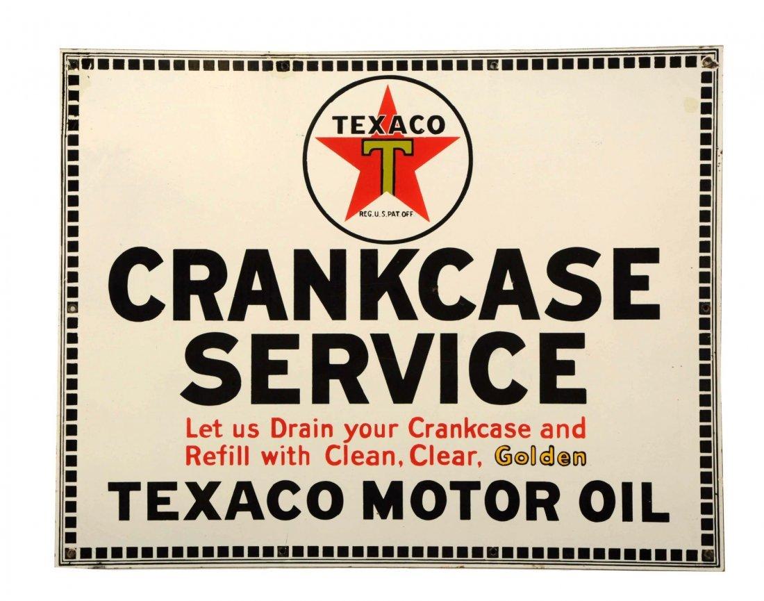 Texaco (black T) Crankcase Service Sign.