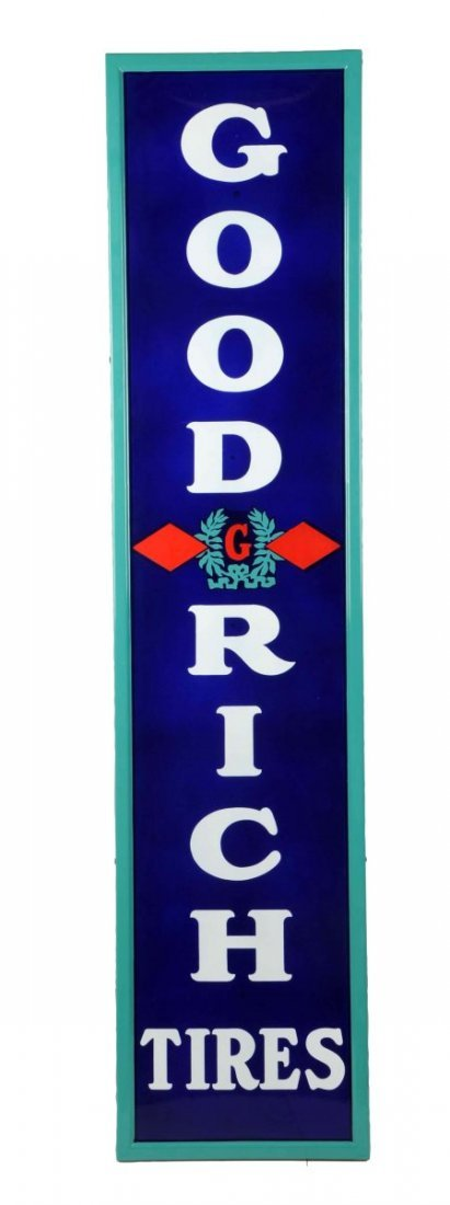 Goodrich Tires w/ Logo Porcelain Vertical Sign.