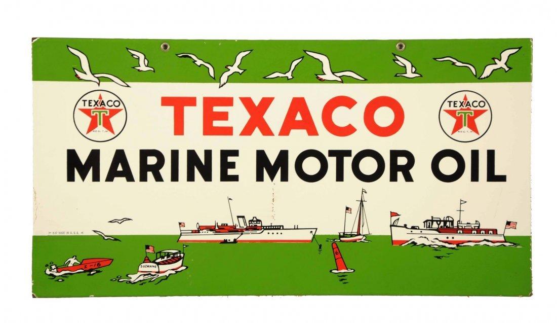 Texaco(White T) Marine Motor Oil w/ Ship Graphics.
