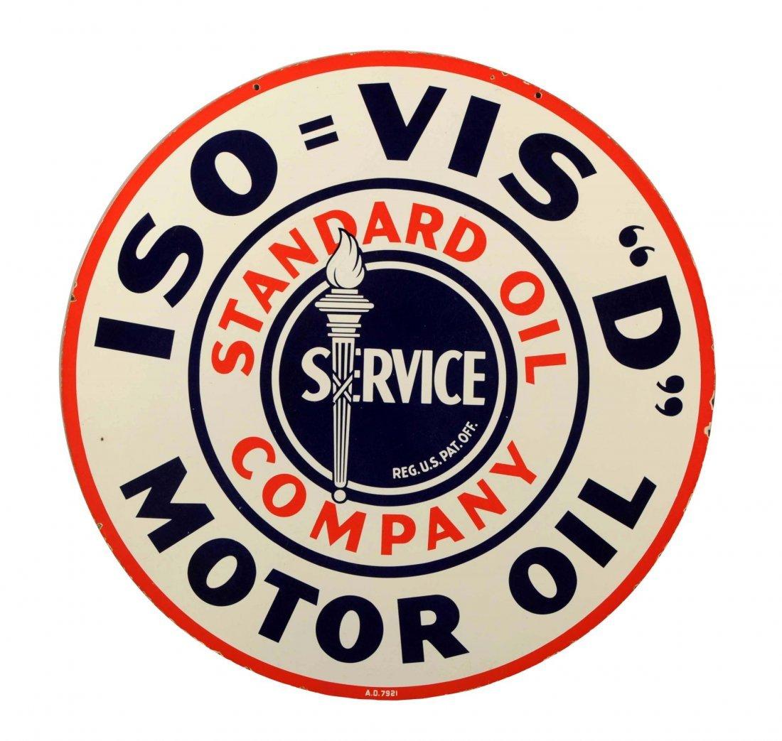 Rare Size Standard Oil Motor Oil w/ Torch Sign.