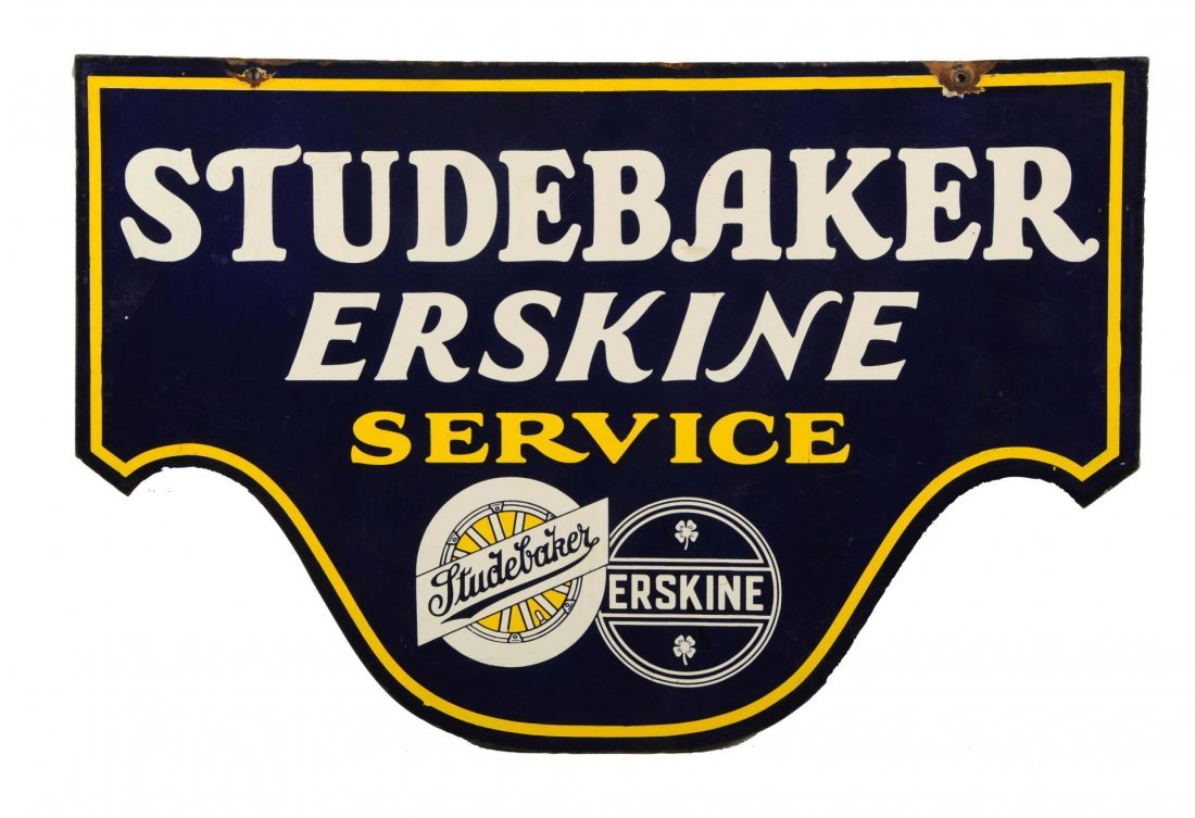 Studebaker Erskine Service with Logos Sign.
