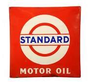 Standard Motor Oil w Bar  Circle Logo Sign