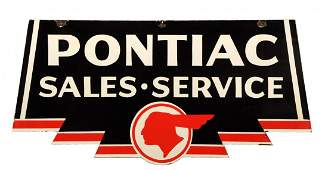 Pontiac SaleService w Full Feather Indian Logo