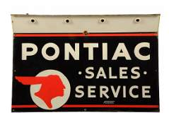 Pontiac SaleService Full Feather Indian Logo Sign