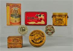 Lot Of 7: Farming and Agriculture Related Tins.