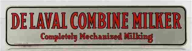 De Leval Combine Milker Double Sided Metal Sign.