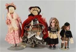 Lot Of 4: Vintage Dolls.
