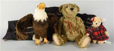 Lot Of 3 Steiff Animals in Original Cloth Bags