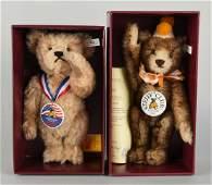 Lot Of 2: Steiff Club Edition Teddy Bears.
