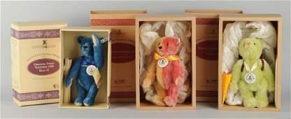 Lot Of 3: Steiff Club Edition Teddy Bears.