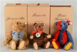 Lot Of 3: Steiff Club Edition Bears.