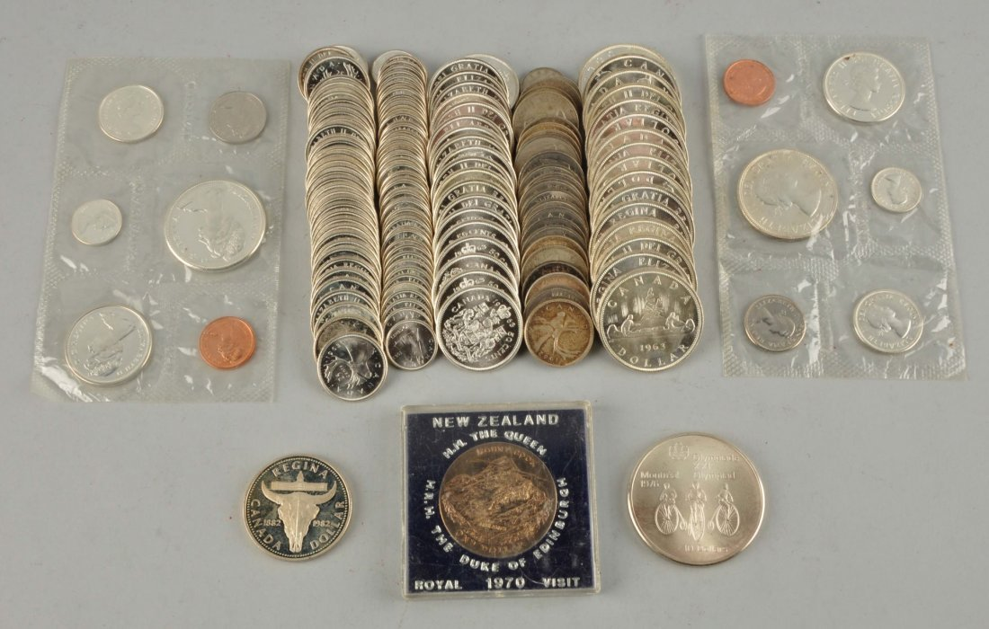 Large Lot of Canadian Silver Coins.