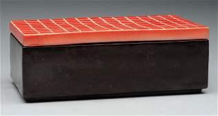 Waylande Gregory Ceramic Box With Lid.
