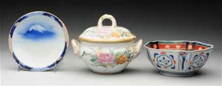 Lot of 3: Porcelain Pieces.
