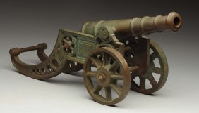 Solid Bronze Model Cannon.