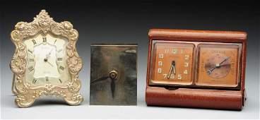 Lot Of 3 Gorham Sterling Clocks