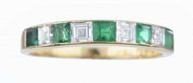 A Diamond And Emerald Ring, Cartier.