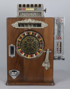 5¢ Watling Brownie Counter Wheel Slot Machine