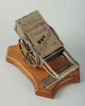 Silver Cart Advertising Cigar Cutter