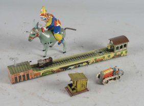 Lot Of 4: German Tin Litho Toys