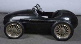 Pressed Steel Black Racecar Pedal Car