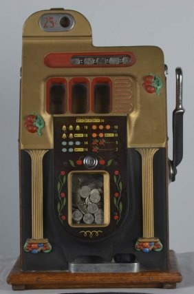 25¢ Mills Golden Falls Slot Machine