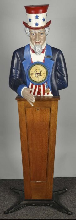 1¢ Howard Uncle Sam Arcade Machine