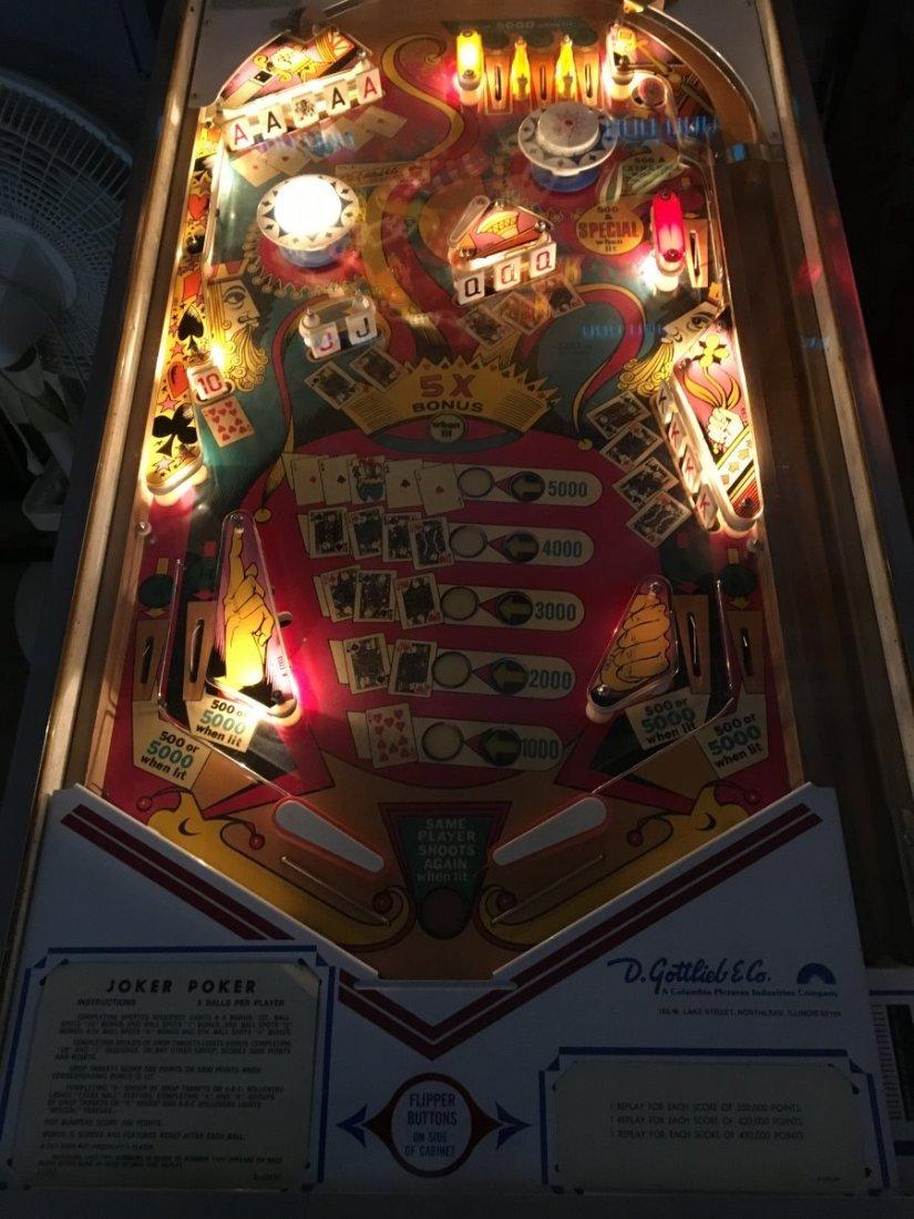 25¢ Gottlieb Joker Poker Pinball Machine - 3