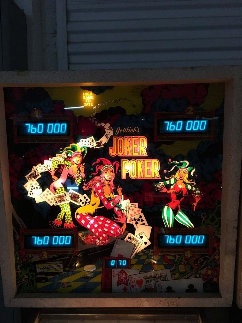25¢ Gottlieb Joker Poker Pinball Machine - 4