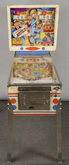 25¢ Gottlieb's Mayfair Pinball Machine
