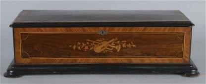Antique Inlaid Wood Music Box