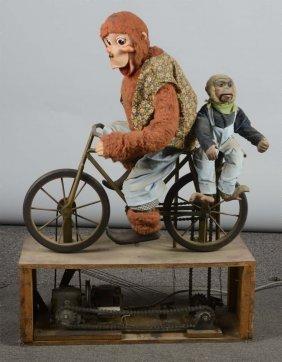 Monkeys On A Bike Automaton Display