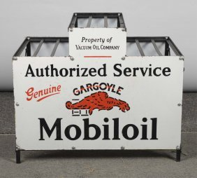 Mobiloil Authorized Service Gargoyle Oil Rack