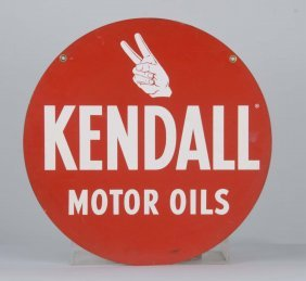 Kendall Motor Oils Double Sided Tin Sign