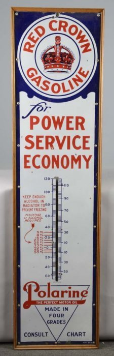 "Red Crown ""for Power Service Economy"" Thermometer"