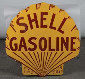Shell Gasoline Shell-shaped Porcelain Sign