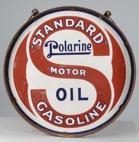 """""""standard"""" Gasoline Porcelain Sign"""