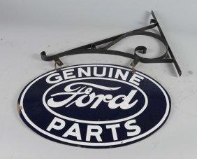Ford Genuine Parts Hanging Porcelain Sign