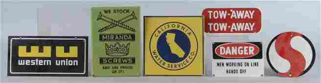 Lot Of 6 Porcelain Advertising Signs