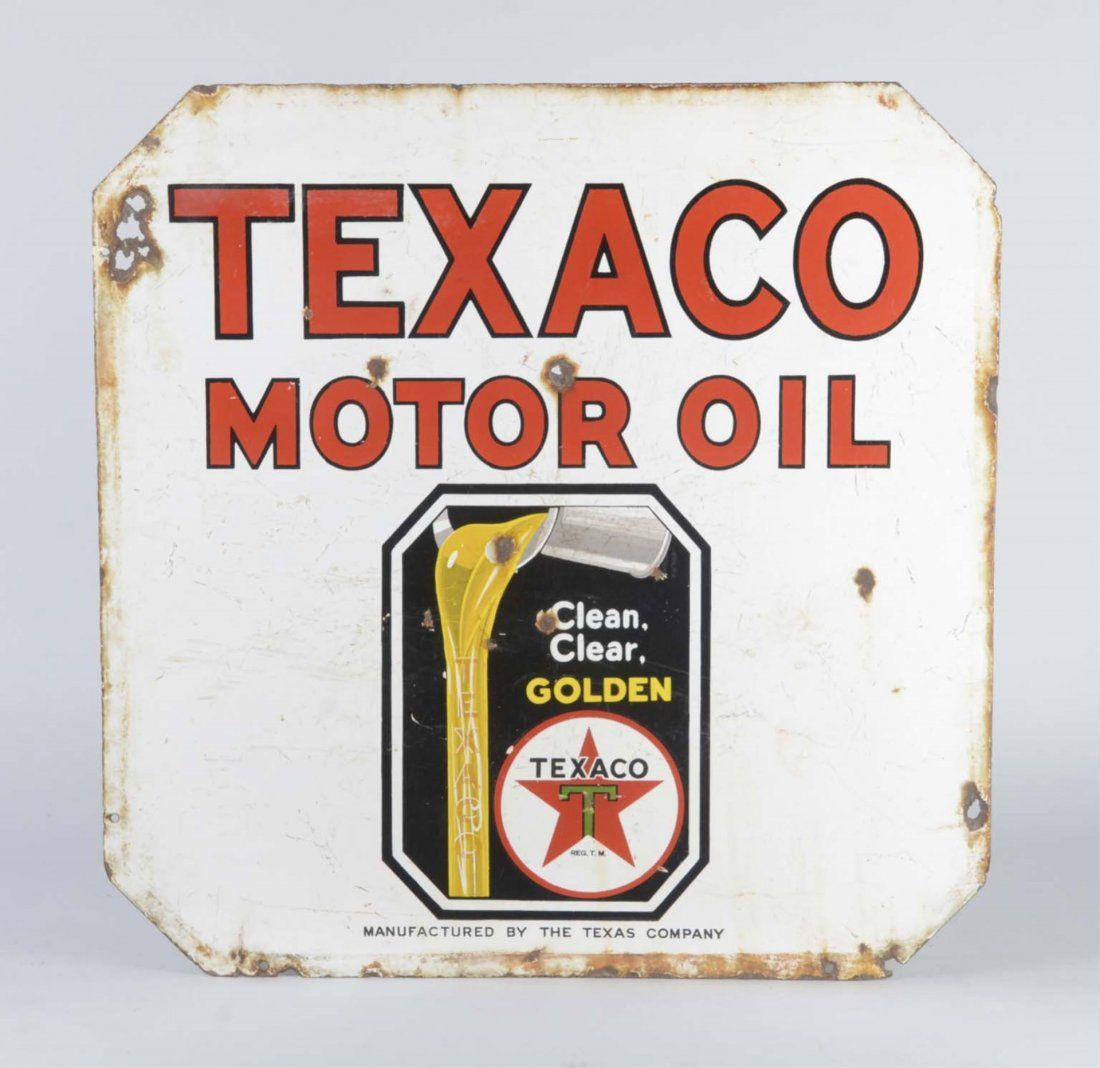 Texaco (Black T) Motor Oil Sign