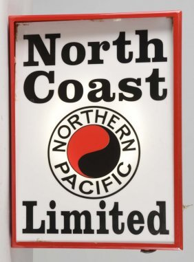 Northern Pacific Lighted Sign