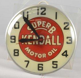 Kendall Super B Motor Oil Lighted Clock