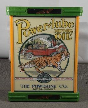 Fantasy Lighted Power-lube Motor Oil Sign
