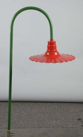 Fluted Service Station Lamp Hood Light