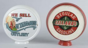 Lot Of 2: Vintage Gas Pump Globes
