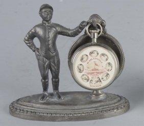 Pocketwatch Holder With Jockey & Pocketwatch Game